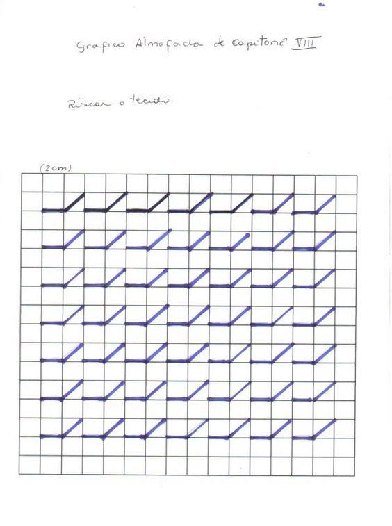 Set De Baño Drapeado:Almofadas Capitone Grafico