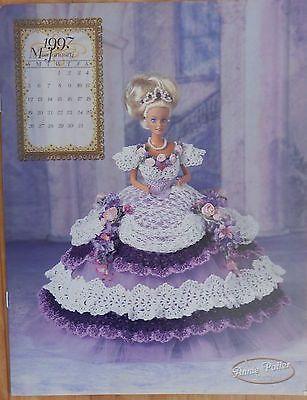 Annie's Attic Fashion Bed Doll Crochet Pattern Royal Ballgown 1997 Miss January