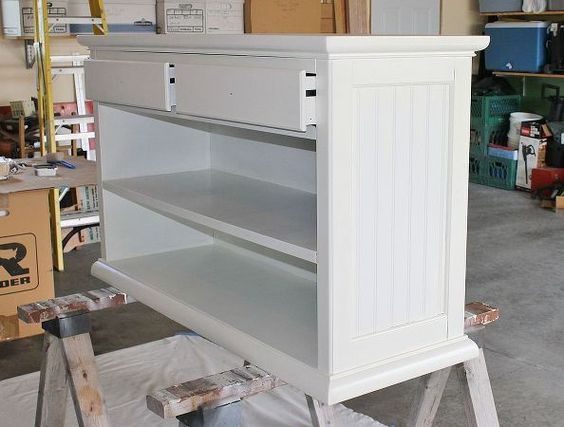 country kitchen island bar, diy, how to, kitchen design, kitchen island, painted furniture, woodworking projects, I glued the bead board into the insets