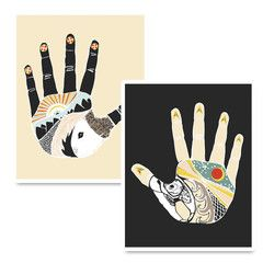 The Something Hand & Nothing Hand Prints by Native Bear on Bezar