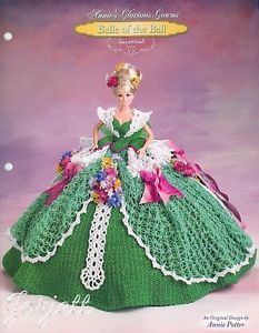 Susannah Annie's Glorious Gowns Belle of The Ball Crochet Pattern | eBay