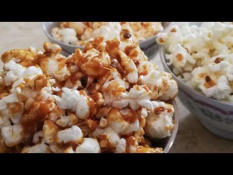 طريقة عمل الفشار بالكراميل Caramelized Popcorn Snack Recipes Food Snacks