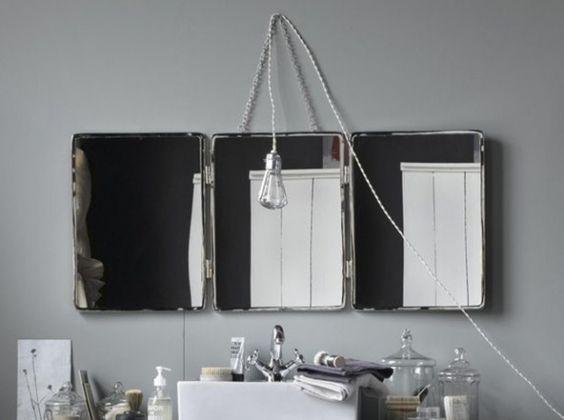 miroir barbier salle de bain la redoute d co vintage pinterest singers. Black Bedroom Furniture Sets. Home Design Ideas
