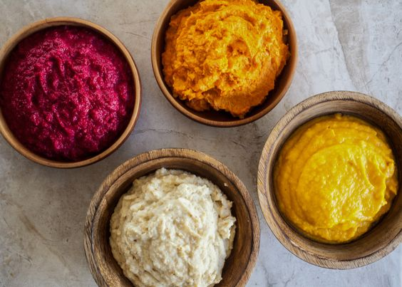 veggie mashed alternatives...or in addition to mashed potatoes - beets, carrots, cauliflower, butternut squash.