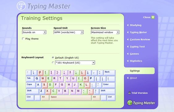 Typing Master Pro Screenshot