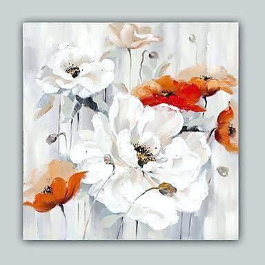 Poppies Like White Coffee Acrylic Art On Canvas Blumenbilder
