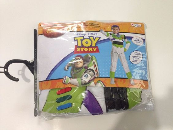 Disney Pixar Toy Story Buzz Lightyear Deluxe Childs Kids Costume Small Size 4-6…