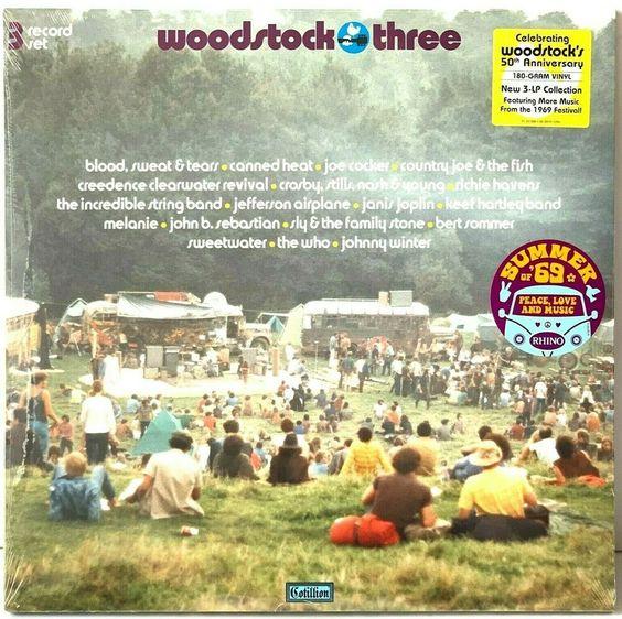 Woodstock Three Soundtrack Vinyl Lp Record Album New Sealed 3 Lp Rhino 180g 3lp Vinyl Records Vinylrecords Albums Lp Vinyl Record Album Record Album Vinyl