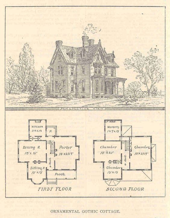 Gothic house plans with turrets old houses i love for Victorian house plans with turrets