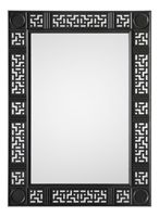 Ebony Carved Mirror