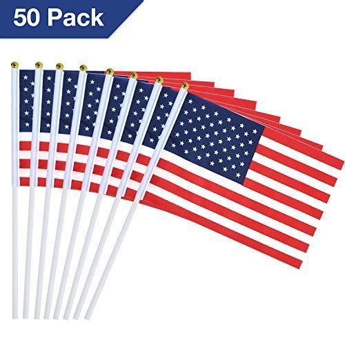 Usa Stick Flags With Ball Tip 5 5 X 8 2 Pack Of 50 American Flags For Parades Aostar American Flag Flag Cool Things To Buy