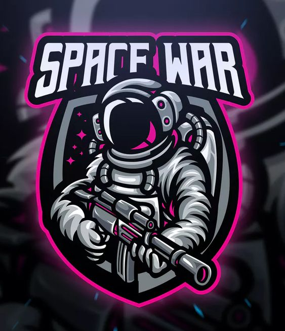Space War Sport and Esport Logo Template AI, EPS. Download
