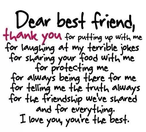 Birthday Quotes For My Best Guy Friend : For my best friend who just had her birthday on saturday
