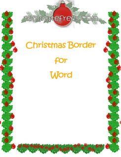 christmas word template