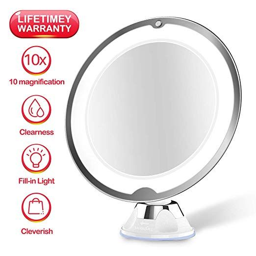 Juhall 10x Magnifying Makeup Vanity Mirror With Lights Led Lighted Bathroom Mirror Cosmetic Magnification Light Up Mirrors With Strong Suction Cup 360 Degree Makeup Vanity Mirror With Lights Mirror With