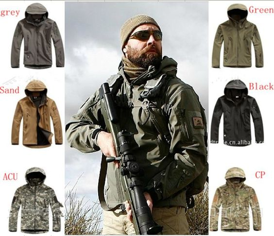 TAD V 4.0 Men Outdoor Hunting Camping Waterproof Coats Jacket Army