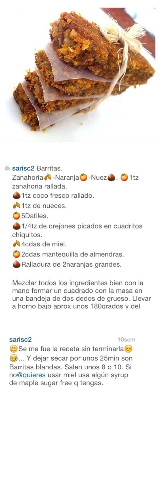 Barritas de zanahoria y almendras