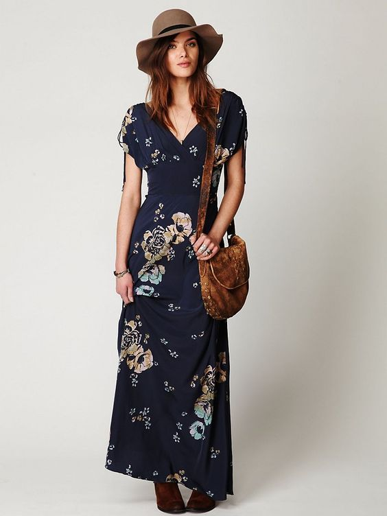 Free People Stardust Short Sleeve Maxi Dress $49.95  :: bohemian ...