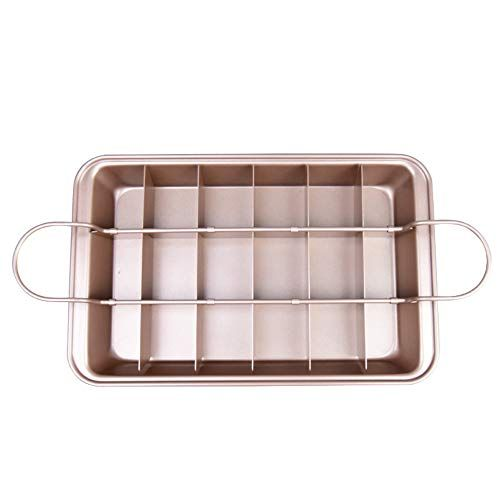 Brownie Pan With Dividers Rack All Edges Divided Slice Solutions 8