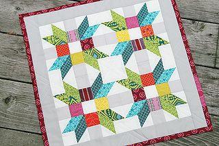 Poinsettia Pillow ~ Project for Quilt Camp by Fresh Lemons : Faith, via Flickr