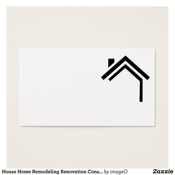 House Home Remodeling Renovation Construction Business Card Zazzle Com House Logo Design Home Logo Construction Business Cards