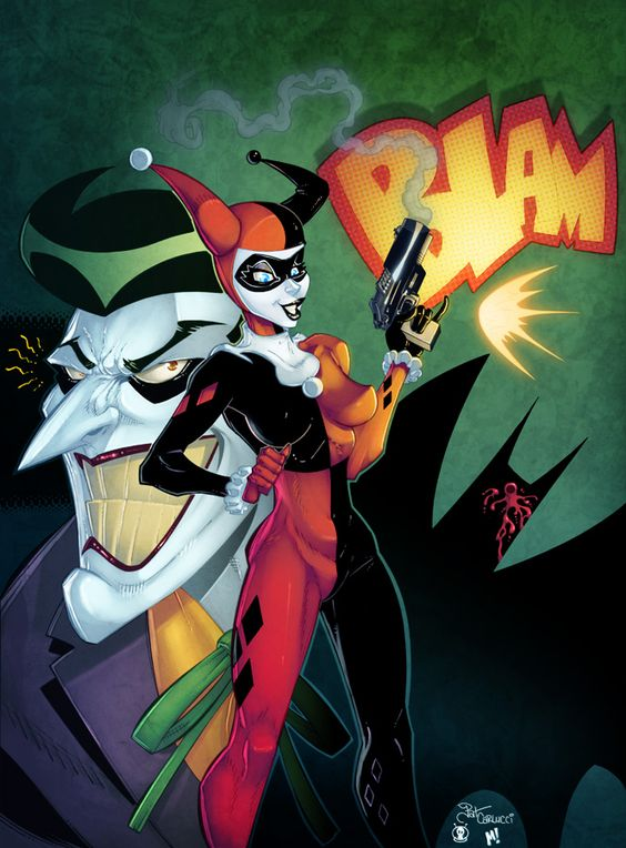 Harley Quinn and The Joker by Pat Carlucci, colours by Mike Henry