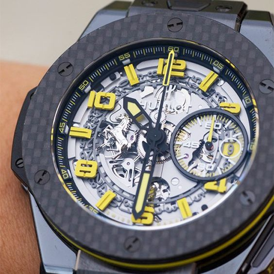 Limited edition #Hublot Big Bang Ferrari Ceramic Carbon. An exquisite watch paying homage to @Ferrariusa . #mensfashion #ferrari #womw  #watchoftheday #watchaddict  Oster Jewelers is your Authorized Hublot watch