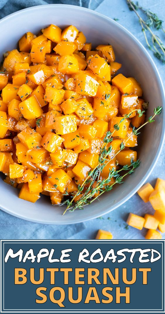 Maple Roasted Butternut Squash Cubes