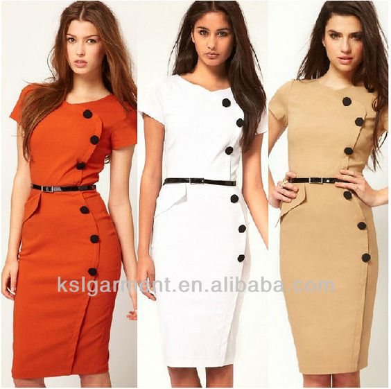 Drop Shipping 2013 New Fashion Elegant Woman Dresses Knee Length Office Lady Dresses With Belt Plus Size Free Shipping $45~$60