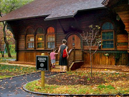 Swedish Cottage Marionette Theater in Central Park - was imported to the U.S. in 1876 as Sweden's exhibit for the Centennial Exposition in Philadelphia.: