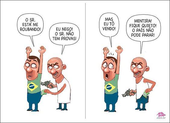 O regime político brasileiro é a DITADURA DO CRIME. O sistema político é o presidencialismo com viés parlamentarista, aleijão que suprimiu a democracia.