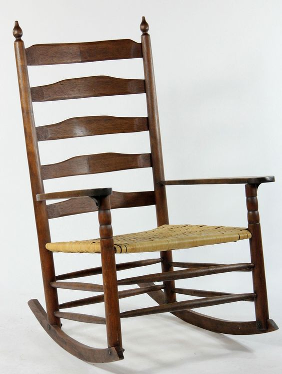 Extra Wide Ladder Back Rocker 1700 S Colonial Interior