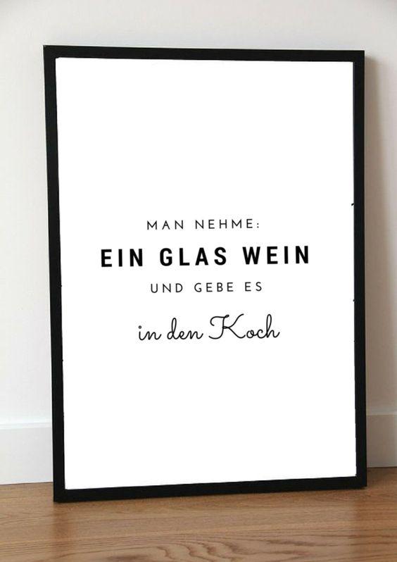 Typo Poster für Köche und Weinliebhaber / artprint for the kitchen and wine lovers made by Pap-Seligkeiten via DaWanda.com