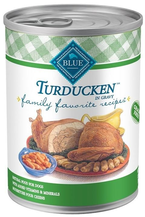 Blue Buffalo Family Favorites Turducken Canned Dog Food Dog Food Recipes Canned Dog Food Family Favorite Meals