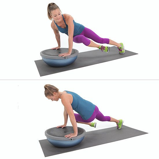 Twisted BOSU Plank (part of a series of exercises for the obliques)