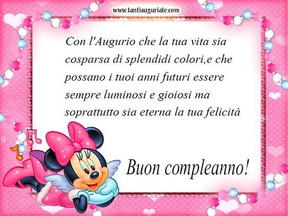 Minnie Mouse Auguri di Buon Compleanno #compleanno #buon_compleanno #tanti_auguri:
