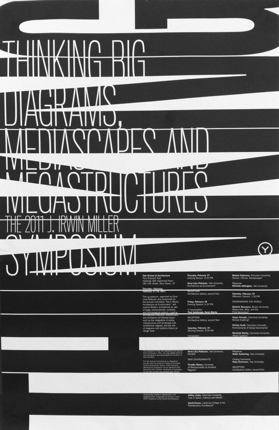 poster by Michael Bierut + Yve Ludwig (2011) Great typography in this print design graphic design