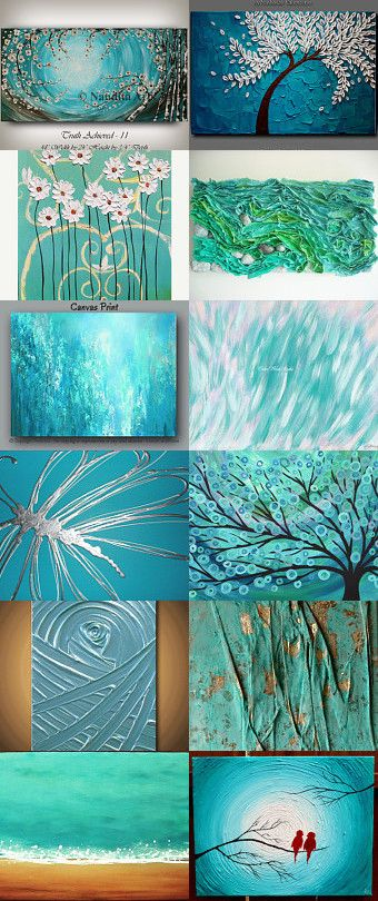 Turquoise Abstract by Stephanie Allred on Etsy--Pinned with TreasuryPin.com