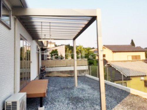 施工例人工木ウッドデッキ Ykkap リウッドデッキ200 テラス屋根 Diy ウッドデッキ 施工