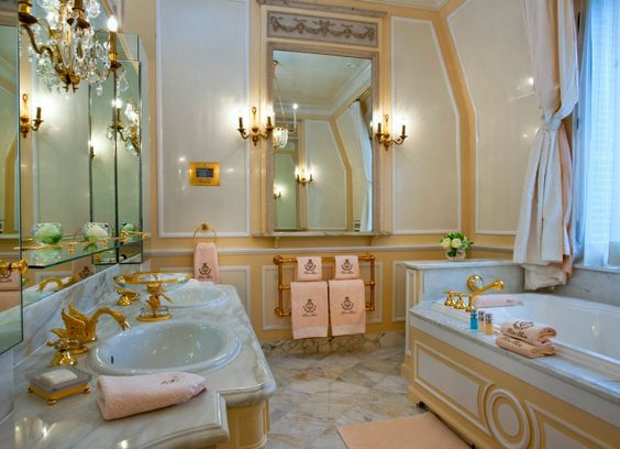 bathroom of the coco chanel suite at the ritz hotel in