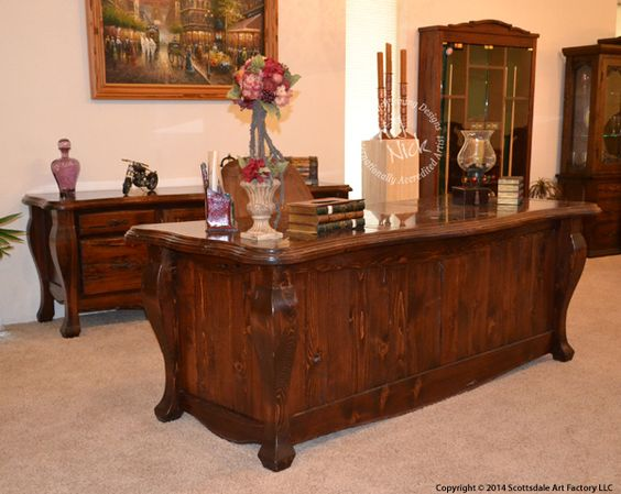 furniture credenzas style hands office desks offices solid wood woods