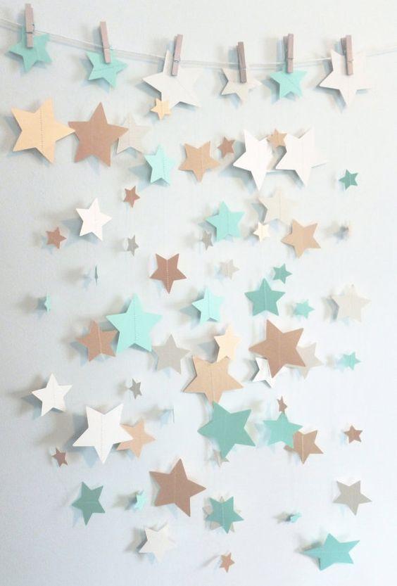 Mint Shimmer Gold and Ivory Home Decor Star by SassyPantsNebraska