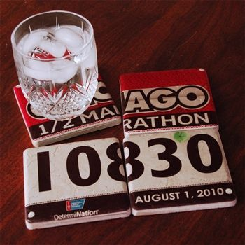Great re-purposing use for the race numbers you never want to throw away!
