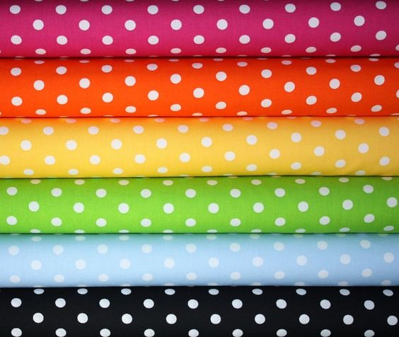Robert Kaufman Pimatex Basics Polka Dot Fabric-1/2 Yard Bundle, 6 total from fabricshoppe on Etsy $27.00 #etsy, #fabric