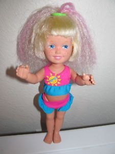 Dolly Surprise... her hair grew! I loved this doll!! Crank her arm and her hair would grow!!