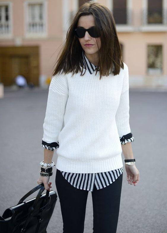street-look-sobreposicao-sueter-e-camisa: