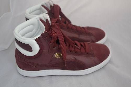 #Puma Shoes Mens High Top Maroon Size 8 | eBay