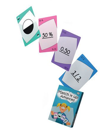 This Match Learner Match it up! Advanced Card Game is perfect! #zulilyfinds