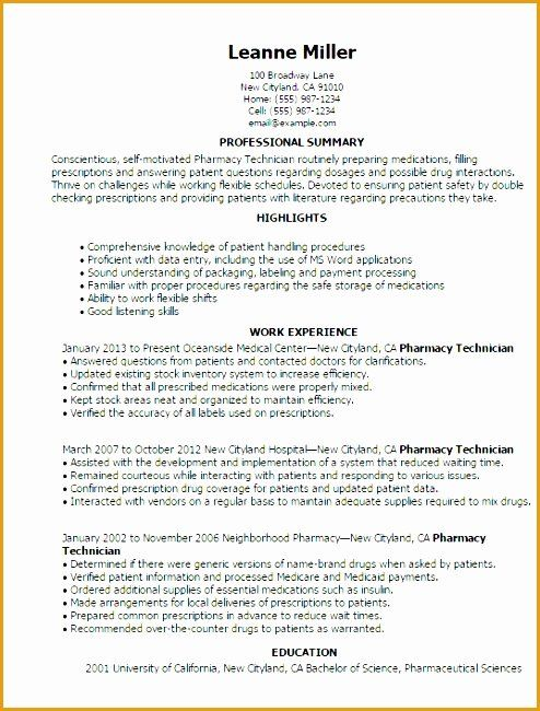 Entry Level Pharmacy Technician Resume Luxury 7 Entry Level Resume Template Free Free Samples Examples Form In 2020 Pharmacy Technician Job Resume Samples Technician