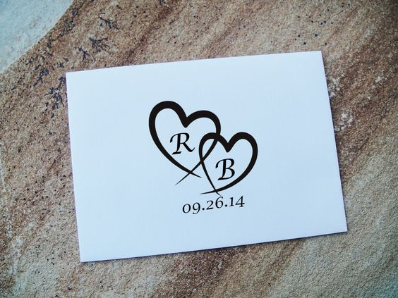 Custom Rubber Stamp, Personalized Stamp, Custom Stamp, DIY Wedding Favor, Engagement Stamp